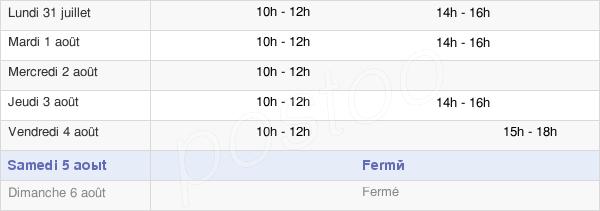 horaires d'ouverture de la Mairie De Cheix-En-Retz