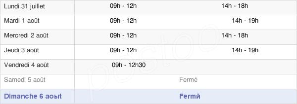 horaires d'ouverture de la Mairie De Deyme
