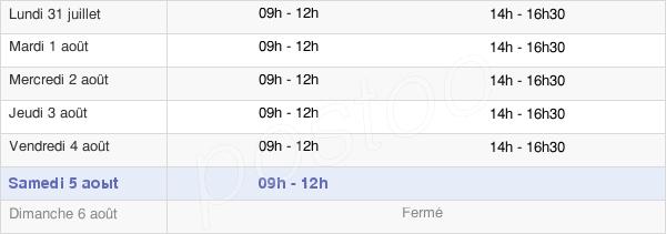 horaires d'ouverture de la Mairie De Touvois