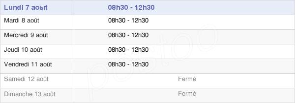horaires d'ouverture de la Mairie D'Abbaretz
