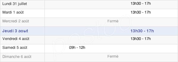 horaires d'ouverture de la Mairie De Lavau-Sur-Loire