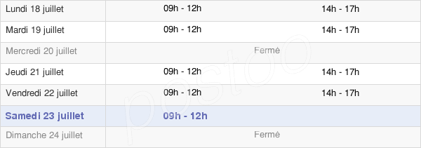 horaires d'ouverture de la Mairie D'Assérac