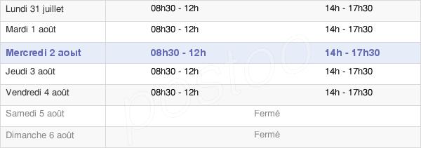 horaires d'ouverture de la Mairie De Montoir-De-Bretagne