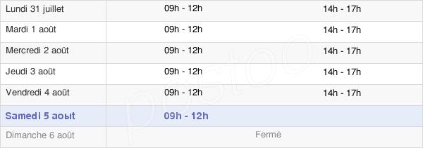 horaires d'ouverture de la Mairie De Machecoul