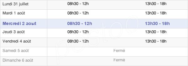 horaires d'ouverture de la Mairie De Derval