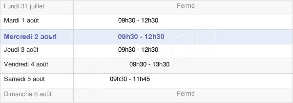 horaires d'ouverture de la Mairie De Treffieux